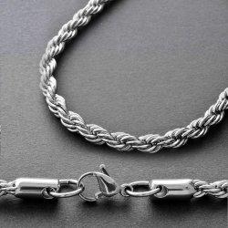 画像1: ネックレスチェーン スパイラル60cm(太) ステンレス製