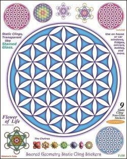 画像1: 神聖幾何学ステッカー9種類セット